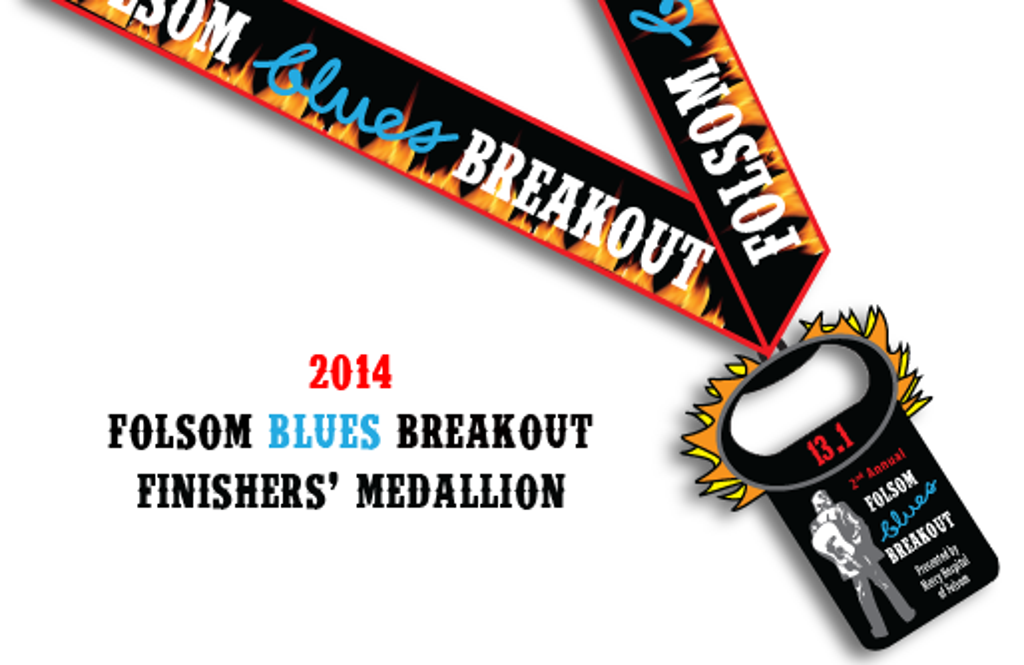 2014 Folsom Blues Half Finisher Medallion