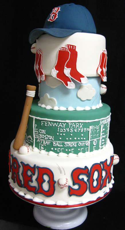 Red Sox Wedding Cake Topper