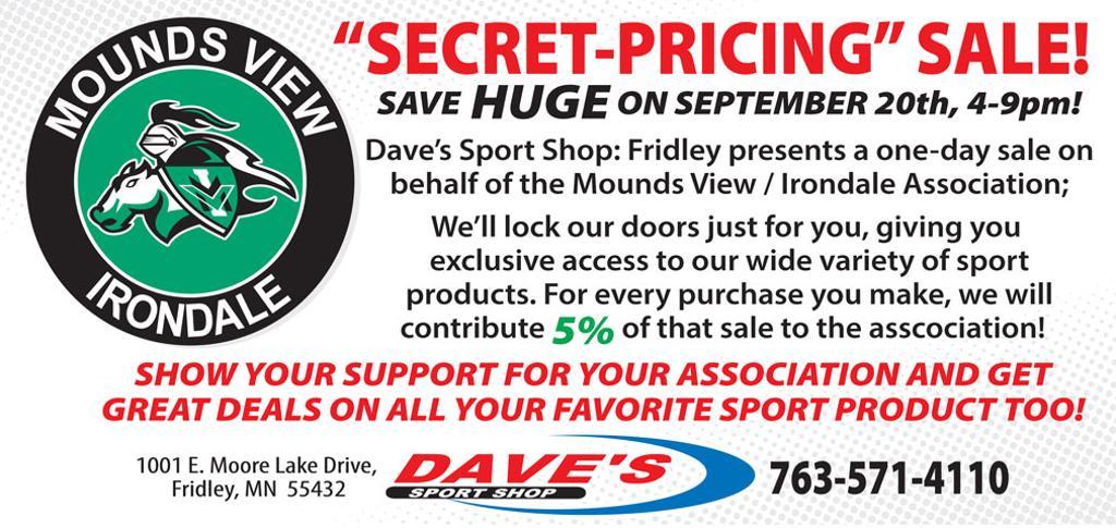 Dave's Sport Shop: Fridley 'secret pricing' sale