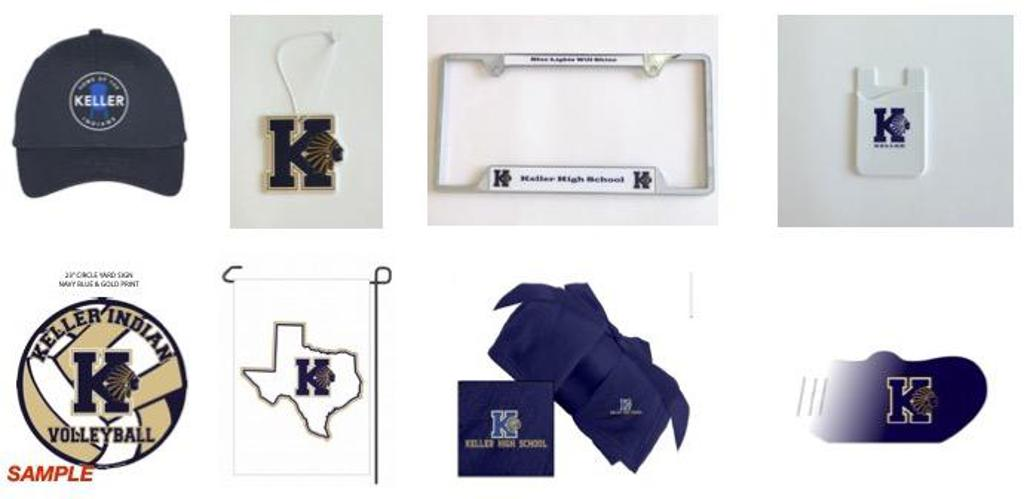 2021-2022 Keller Athletic Boosters Spirit Wear Accessory Items