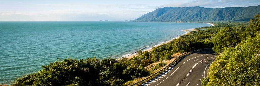 IRONMAN Cairns bike course along Captain Cook Hwy