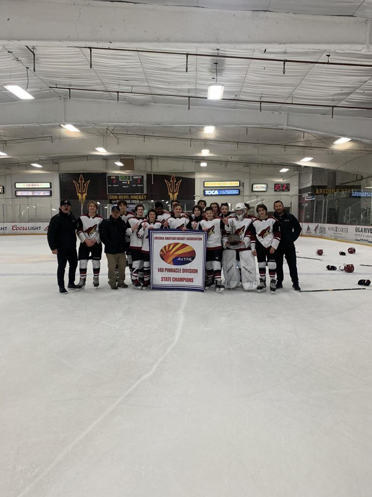Jr Coyotes 14U SD, 2020-21 14U Pinnacle State Champions