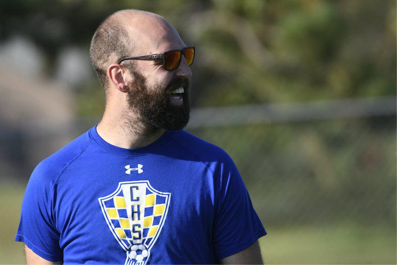 Coach Alex Hess has St. Cloud Cathedral looking to extend its streak of dominance over Little Falls and take control of the Granite Ridge Conference title race with a victory on Tuesday. Photo by Cole Mayer, SportsEngine