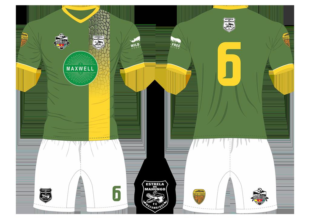 Estrela de Mahungo FC Crocodiles Soccer Team Kit RCCL 2019