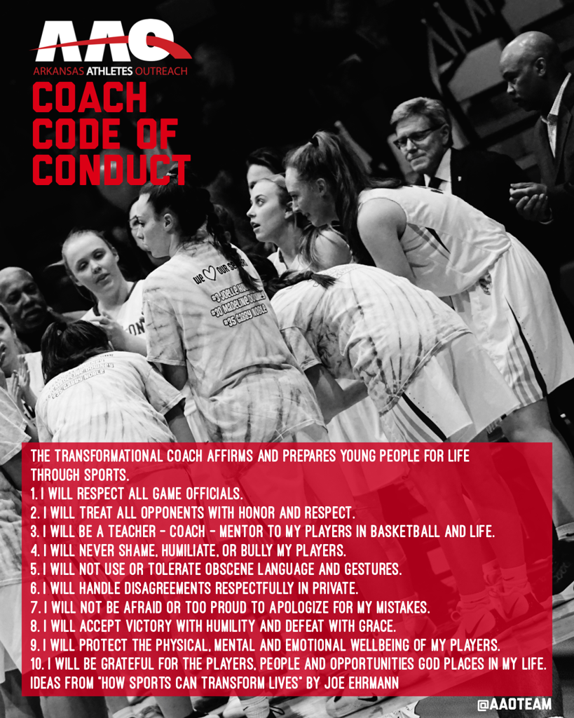 AAO Coach Code of Conduct