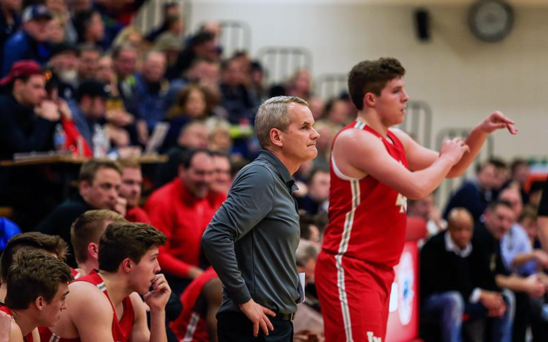 Lakeville North coach John Oxton closes in a significant career milestone as his Panthers prepare for Tuedsay's game with Burnsville. Photo by Mark Hvidsten, SportsEngine