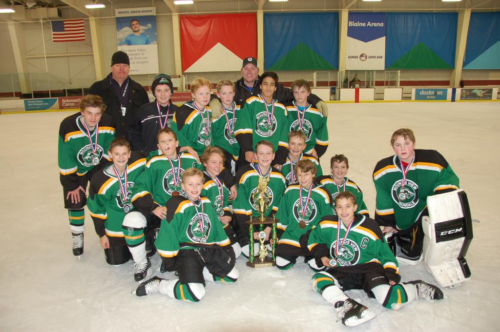 Peewee A 3rd place finish