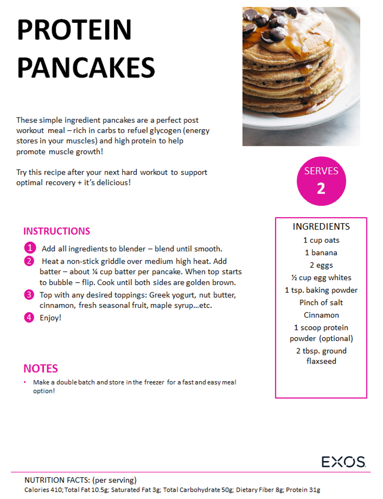 Kick start your morning with protein pancakes!