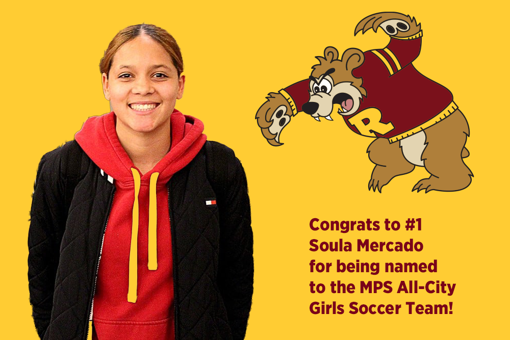 Congrats to #1 Soula Mercado for being named to the All-City Girls Soccer Team!