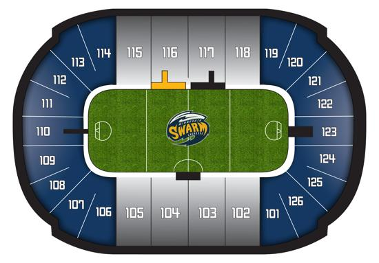 Minnesota Swarm Group Seating Map