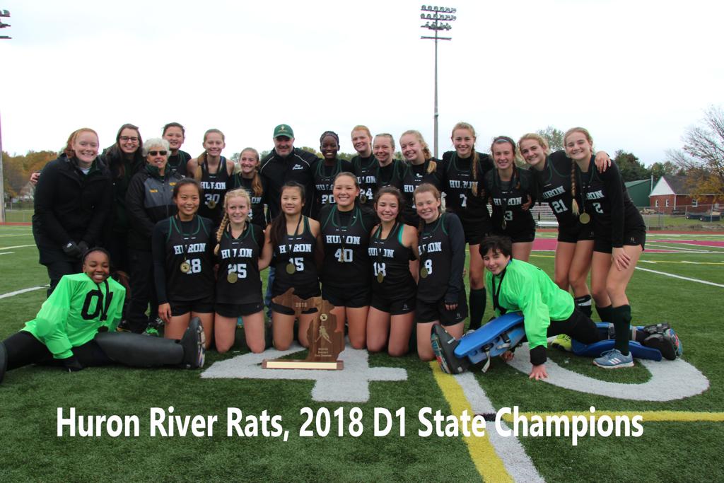 2018 D1 State Championship Team Huron River Rats