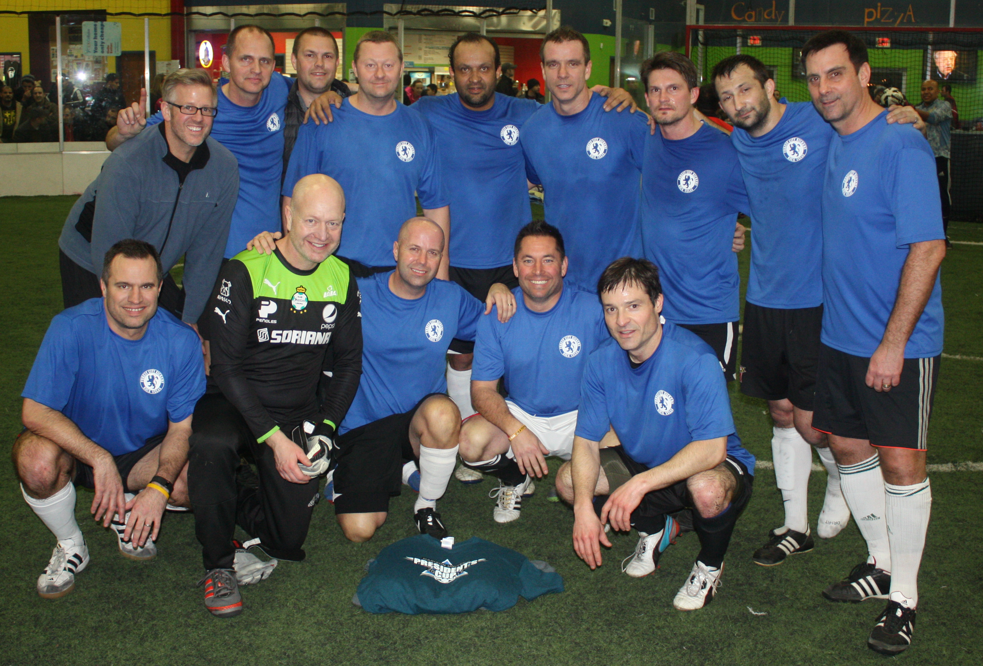 2015 President's Cup Men's Over-38 champions: Forest City Kickers