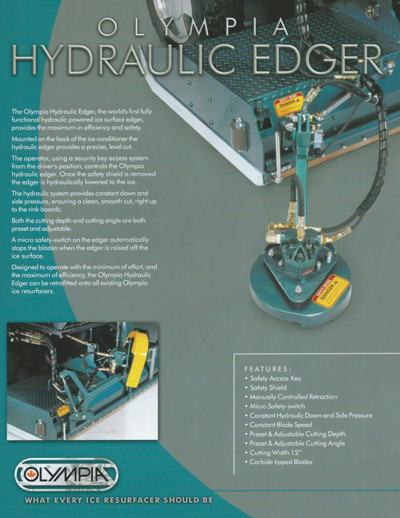 click here to view specifications for Olympia Hydraulic Edger