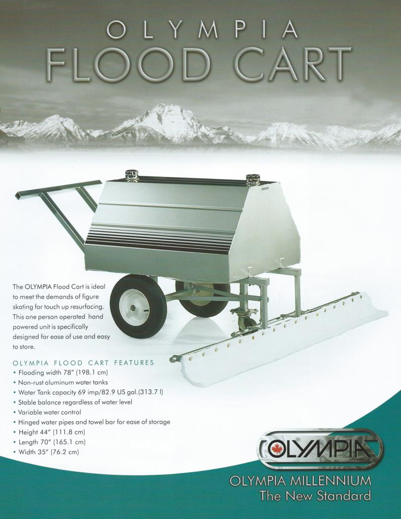 Click here to view specifications for Olympia Flood Cart