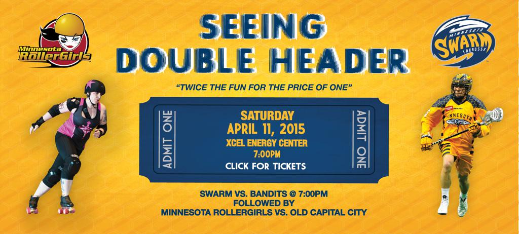 Swarm RollerGirl Doubleheader Night - April 11