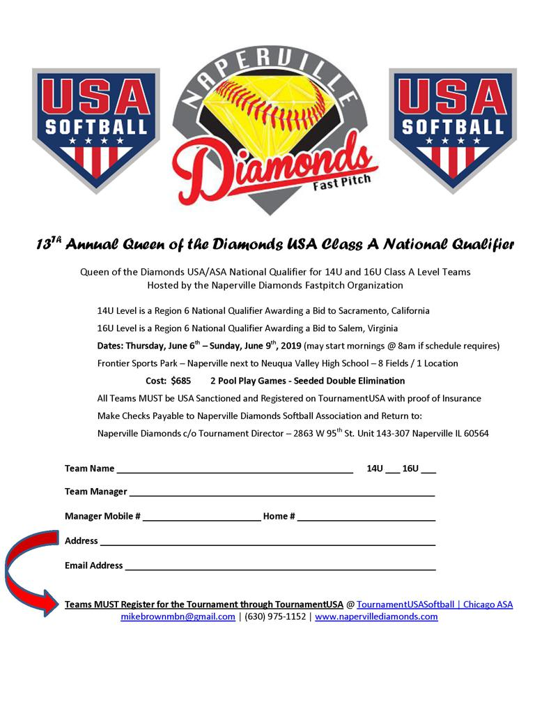 14U/16U Queen of the Diamonds Registration
