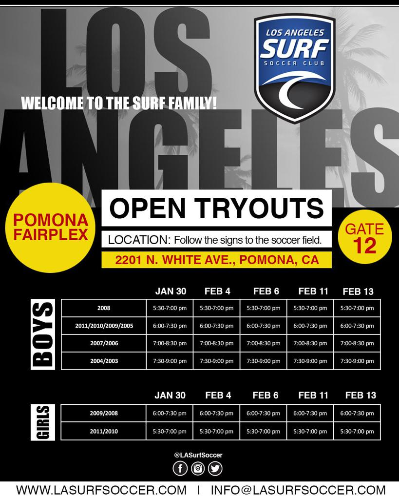 LA SURF TRYOUTS | POMONA FAIRPLEX