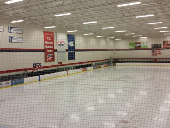 Hat trick hockey rink