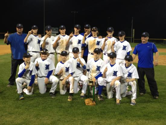 Northwood MS Baseball 2015 County Champions