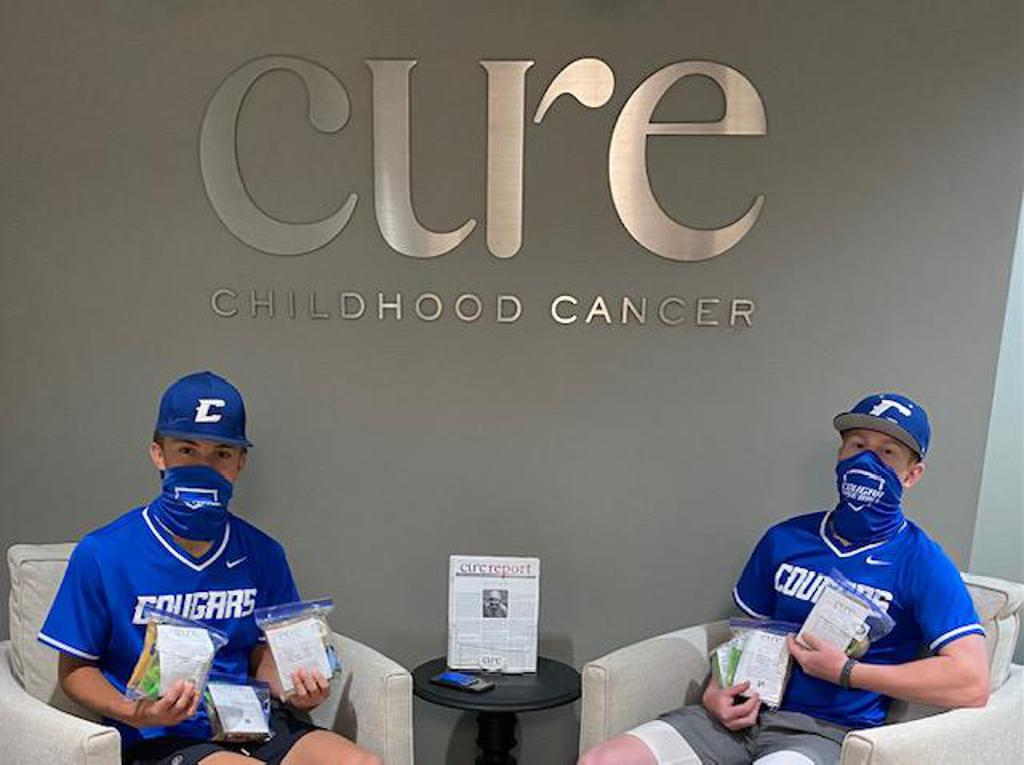 2021 CHS baseball team donated 102 snack bags for Cure Patients