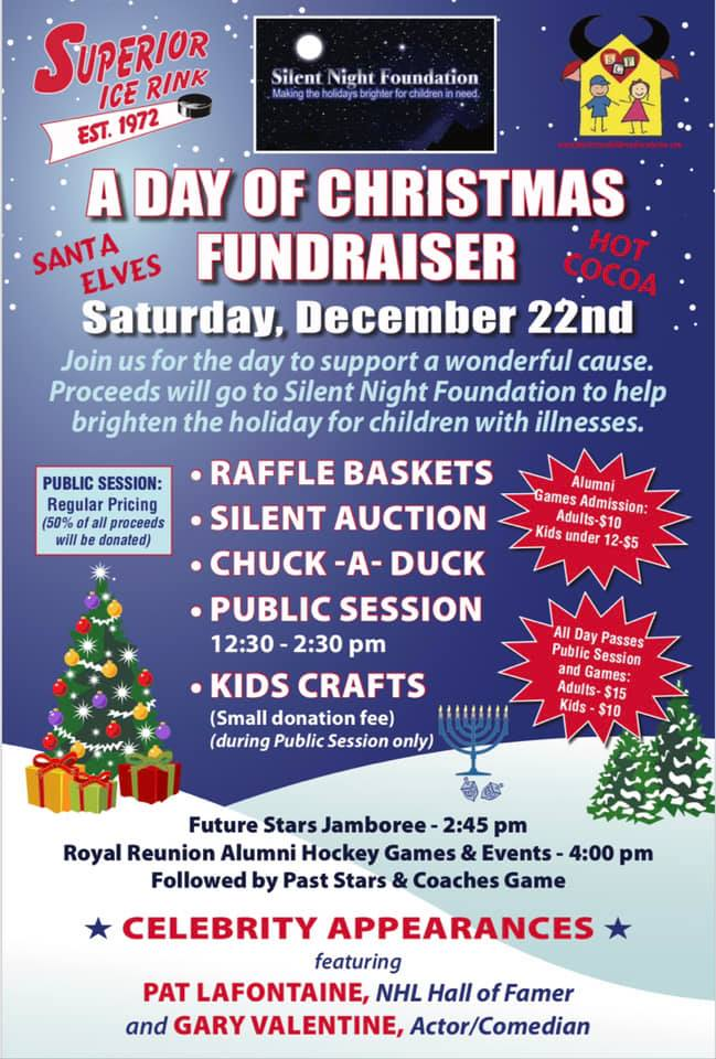 Christmas Fundraiser.A Day Of Christmas Fundraiser At Superior Ice Rink