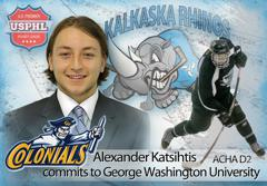 Alexander Katsihtis commits to George Washington University, ACHA D2