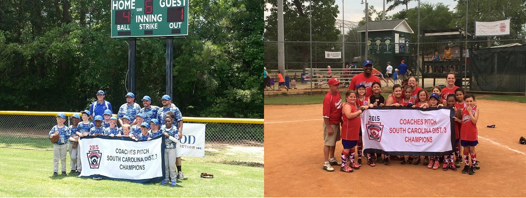 Spring 2015 District 3 Coach Pitch Baseball and Coach Pitch Softball Champions