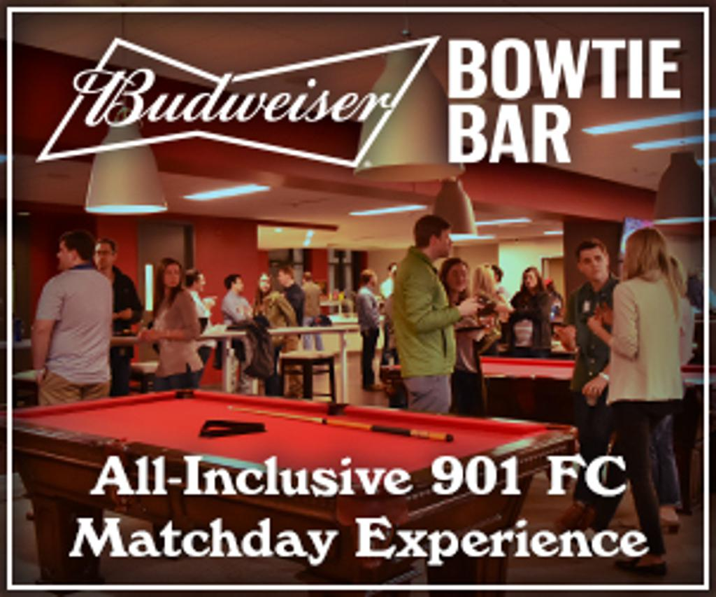 Budweiser Bowtie Bar – All-Inclusive 901 FC Matchday Experience