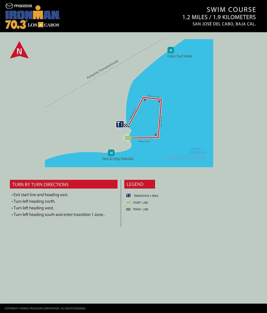Swim course map IM703 los cabos