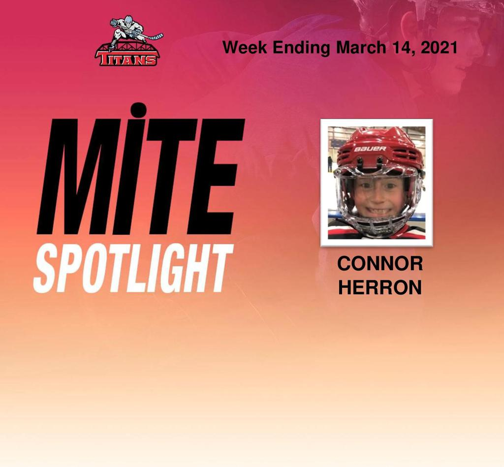 Titans announce Connor Herron as Mite Spotlight for week ending March 14