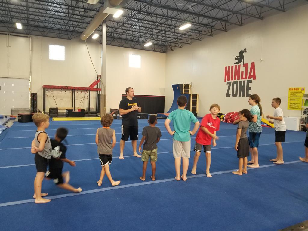 All boys gymnastics event instruction