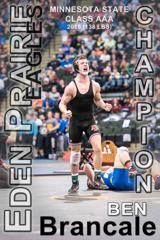 Ben Brancale State Champion Eden Prairie Wrestling