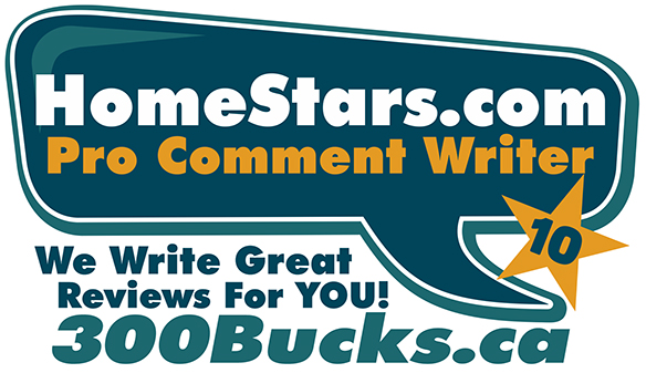 Homestars.com Prefessional Review Writer  -  Social Media Experts in Mississauga - 300Bucks.ca