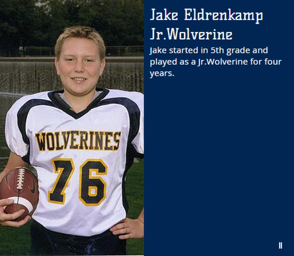 sports shoes eaf60 404ee Jake Eldrenkamp | Photos | Wolverine Jr. Football