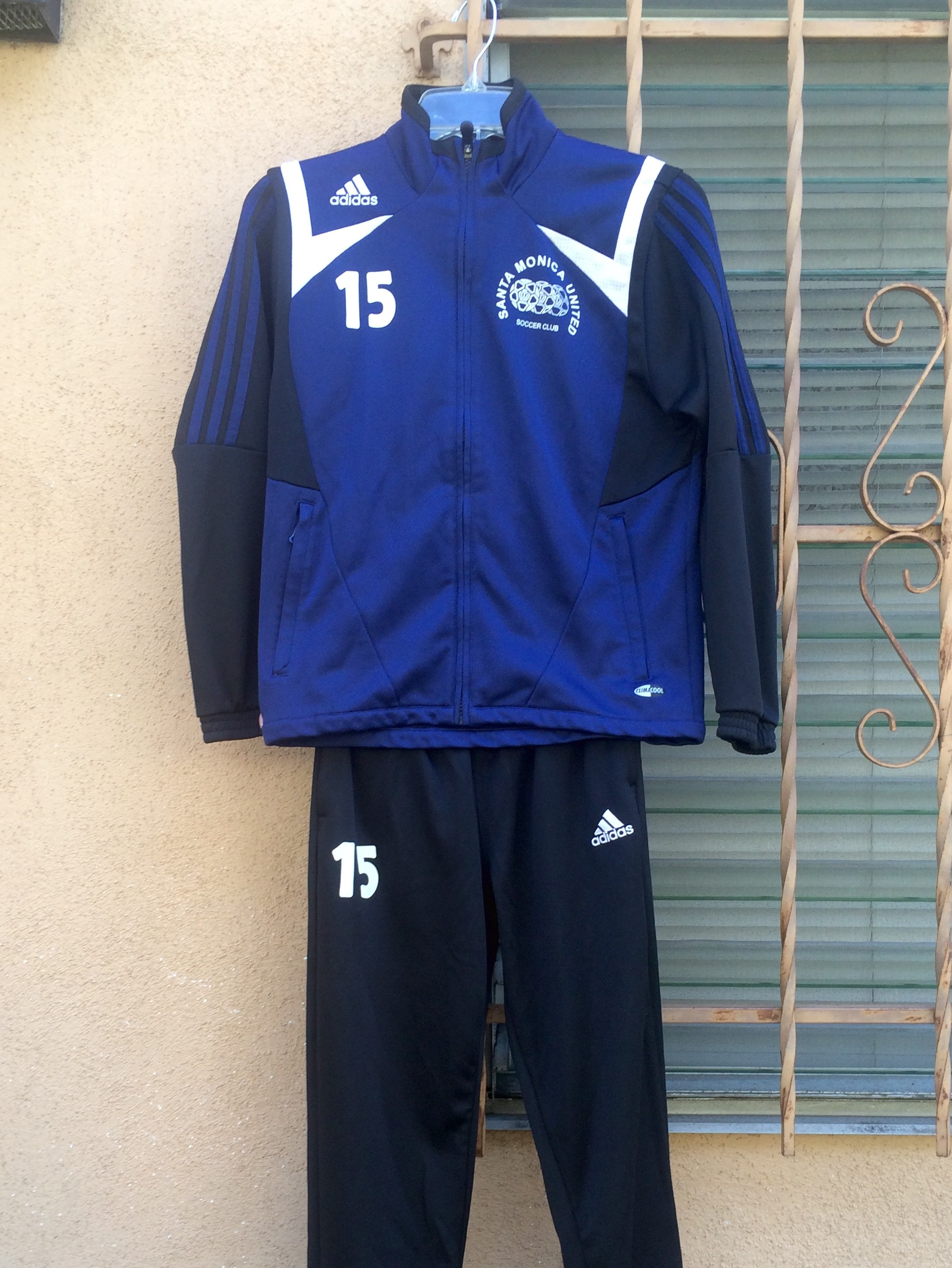 Santa Monica United Soccer Club – Warm-up Suit – ADIDAS – 2008 to 2010 -  Courtesy of Justin Chin 853fdee2d744