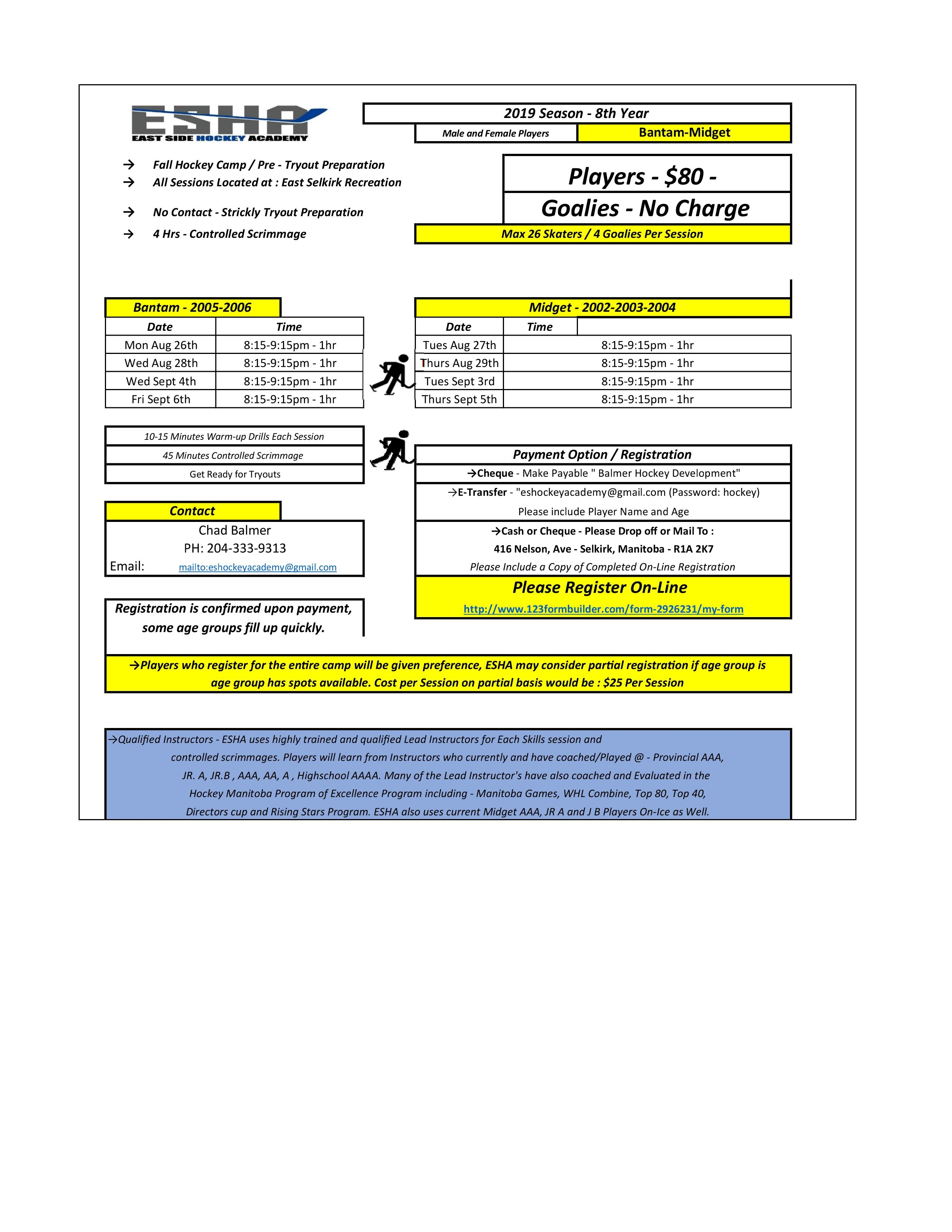image about Printable Tryout Numbers identify East Aspect Hockey Academy Pre-Tryout Camp 2019