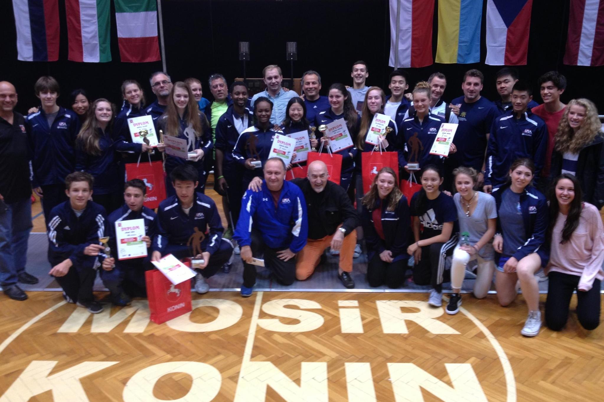 Team Usa Wins Double Gold Takes Seven Cadet Saber Medals