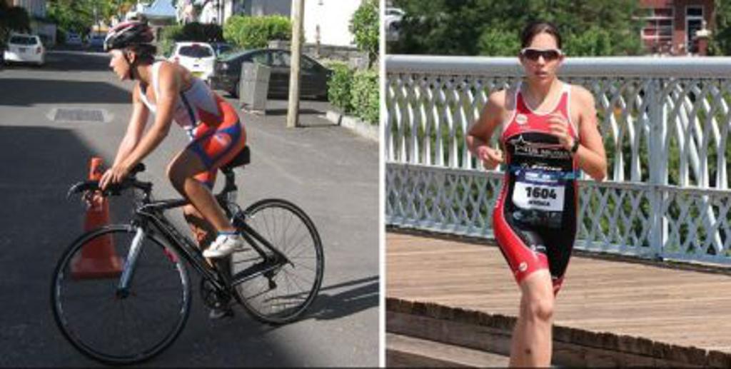 Jessica Biking and Running