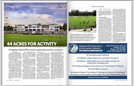 CHECK OUT THE FEATURE ON THE PARK IN THE FALL LOUDOUNER MAGAZINE!!!
