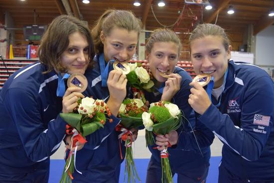 U S Women S Epee Team Earns First World Cup Medal Since 2012