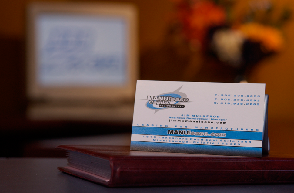 Mississauga Business Card Design by Kevin J. Johnston - ManuLease Capital