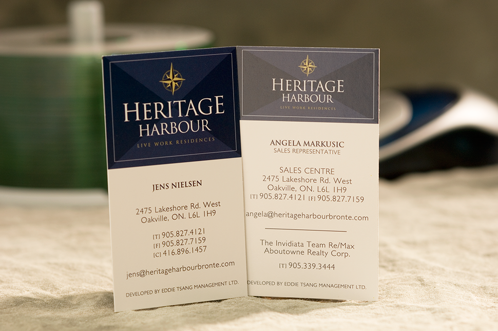 Mississauga Business Card Design by Kevin J. Johnston - Heritage Harbour