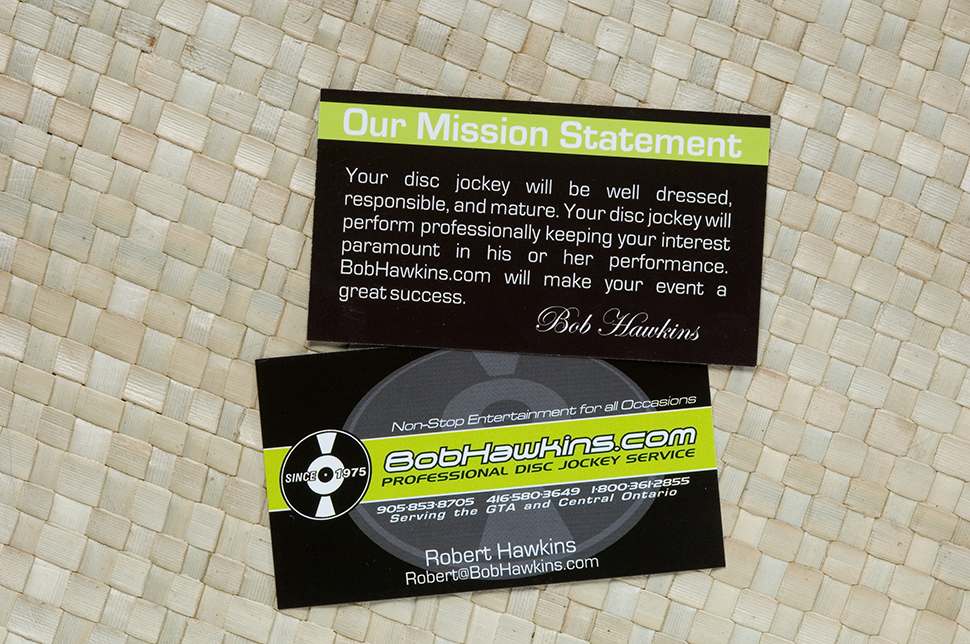 Mississauga Business Card Design by Kevin J. Johnston - Bob Hawkins