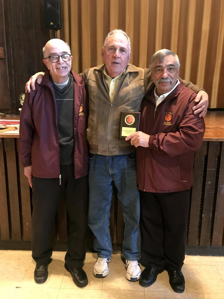 Honorary Secretary Pete Pacheco, John Christo & Joe Perry over a 100 years of dedicated service to the youth of Tiverton