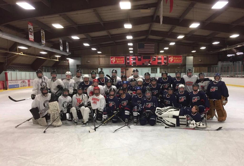 Riveters Skate with the USA Team