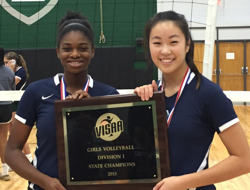Hana Lee And Jordyn Park The Flint Hill School 2015 Visaa Div I Champs Photos Vienna Elite Volleyball Club