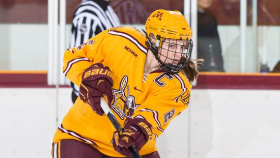 At 15-1, Minnesota's women's team trails only Wisconsin and Boston College in the USCHO PairWise Rankings. Credit: Gopher Athletics.