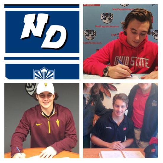 Notre Dame Academy has 3 sign NCAA Division 1 Hockey National Letter of Intent during fall signing period