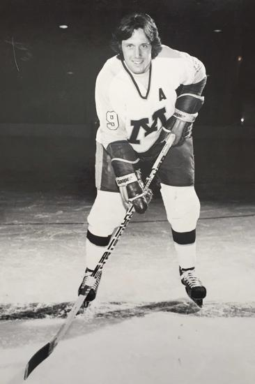Tim Harrer's 53 goals in 1979-80 broke John Mayasich's and Dick Dougherty's shared record and still stands as the Gophers all-time single-season goal scoring mark. Credit: University of Minnesota Athletics.
