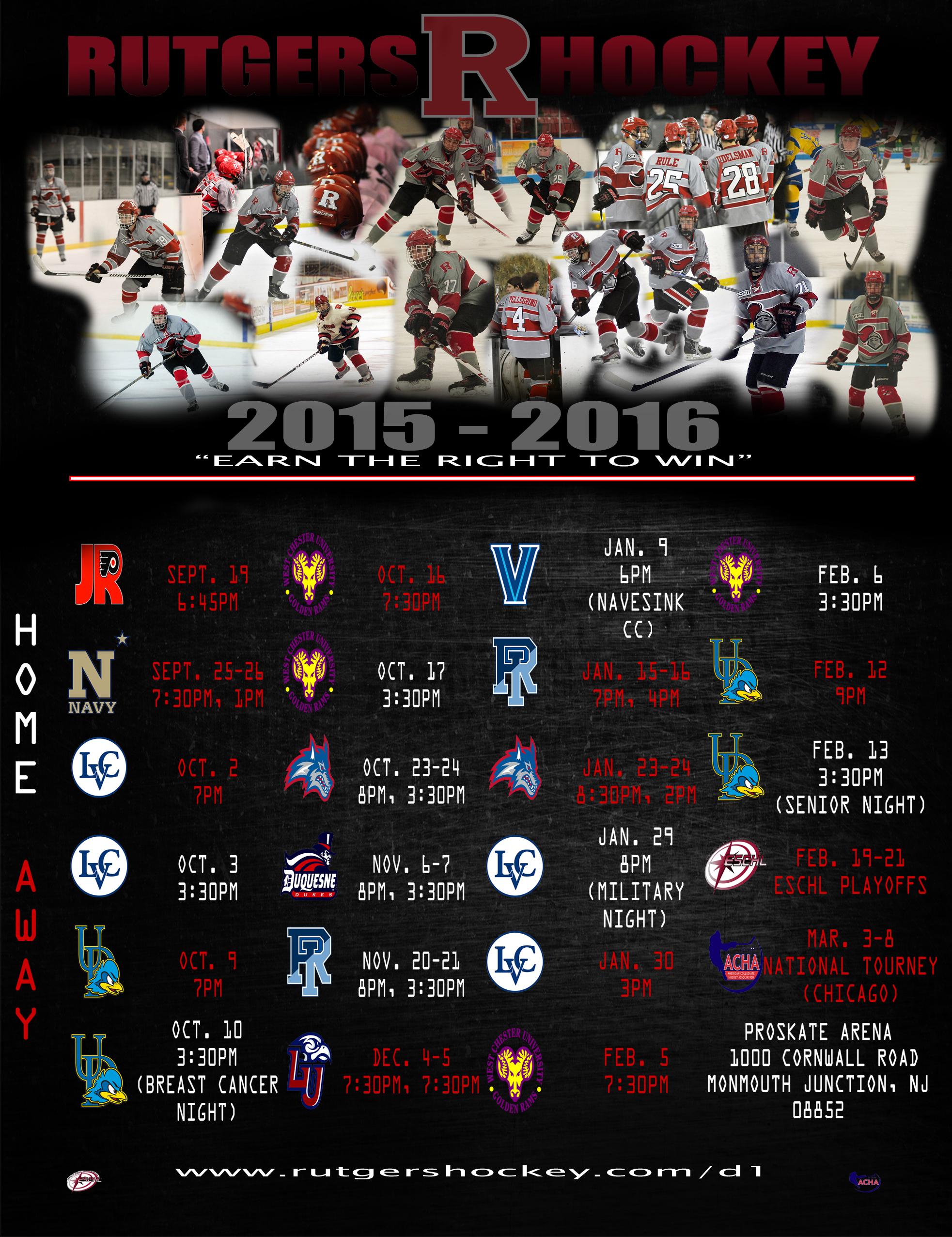 2015 - 2016 Schedule Poster